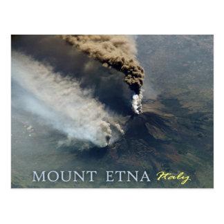 La erupción volcánica del monte Etna en 2002 Tarjeta Postal