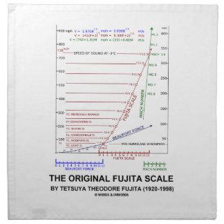 La escala original Tetsuya Theodore Fujita de Fuji Servilleta