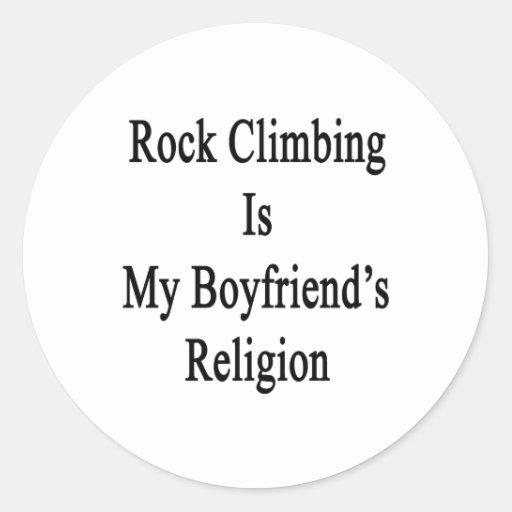 La escalada es la religión de mi novio etiquetas redondas