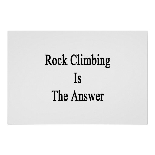La escalada es la respuesta impresiones