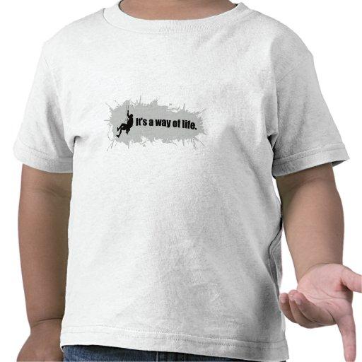 La escalada es una manera de vida camisetas
