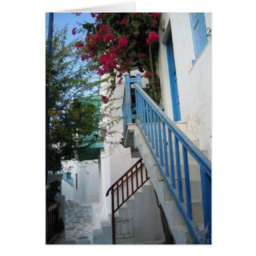 La escalera azul tarjeton
