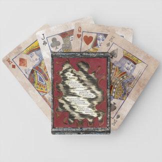 La escalera barajas de cartas