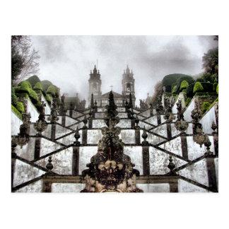 La escalera barroca de Bom Jesús en Braga Tarjeta Postal