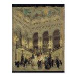La escalera de la ópera, 1877 postales
