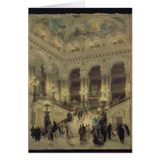 La escalera de la ópera, 1877 tarjeta de felicitación