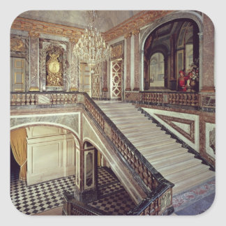 La escalera de la reina, c.1679 pegatina cuadrada