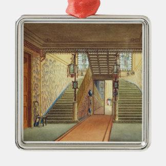 La escalera, de vistas del pabellón real, B Adorno Navideño Cuadrado De Metal