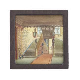 La escalera de vistas del pabellón real B Caja De Recuerdo De Calidad