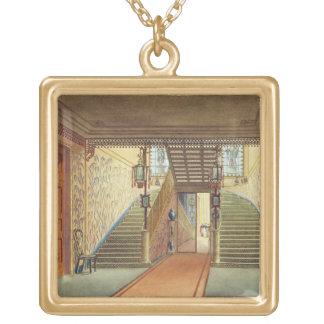 La escalera, de vistas del pabellón real, B Colgante Cuadrado