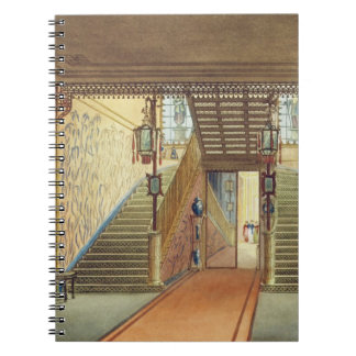 La escalera, de vistas del pabellón real, B Libros De Apuntes Con Espiral
