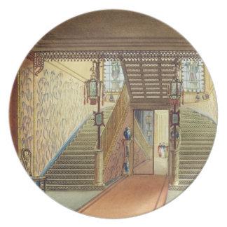 La escalera, de vistas del pabellón real, B Plato De Cena