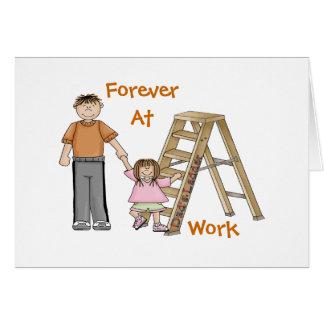 La escalera del papá tarjeta de felicitación