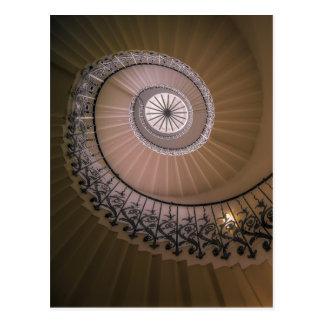La escalera del tulipán, la casa de la reina en tarjeta postal