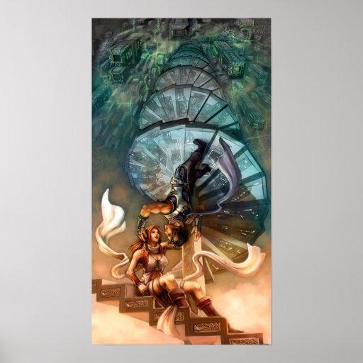 La escalera espiral impresiones