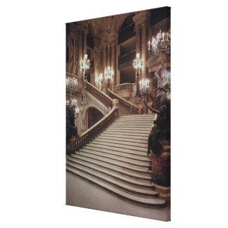 La escalera magnífica de la Ópera-Garnier Lienzo Envuelto Para Galerías