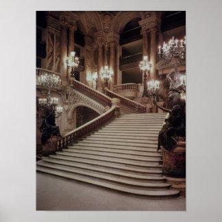 La escalera magnífica de la Ópera-Garnier Posters