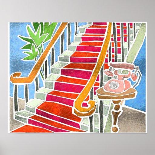 La escalera poster