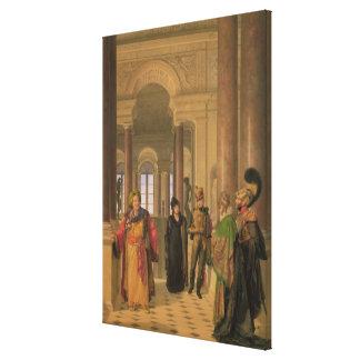 La escalera principal del Louvre, 1817 Impresion En Lona