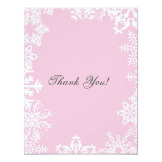 """La escama de la nieve le agradece tarjeta plana invitación 4.25"""" x 5.5"""""""