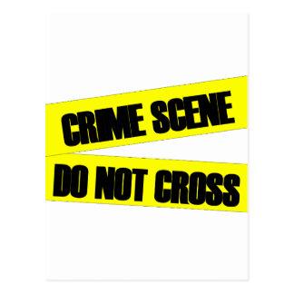 La escena del crimen no cruza postales