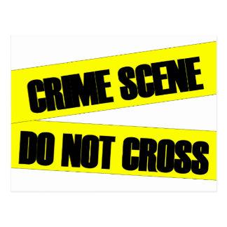 La escena del crimen no cruza tarjeta postal