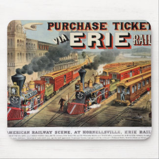 La escena ferroviaria americana en Hornellsville Mouse Pads