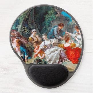 La escena rococó de François Boucher de los colect Alfombrilla Gel