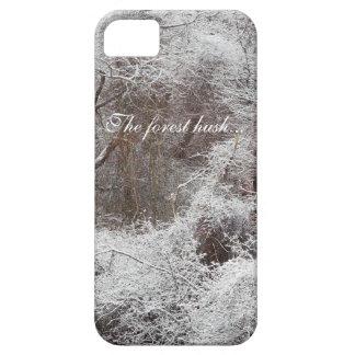 La escena serena de la nieve del silencio del funda para iPhone SE/5/5s