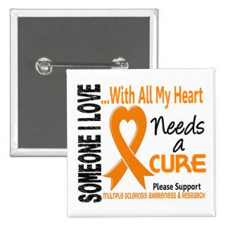La esclerosis múltiple necesita una curación 3 pin cuadrado