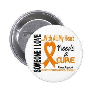 La esclerosis múltiple necesita una curación 3 pin redondo de 2 pulgadas