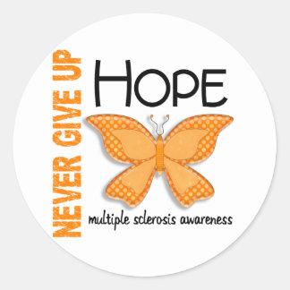 La esclerosis múltiple nunca da para arriba la pegatina redonda