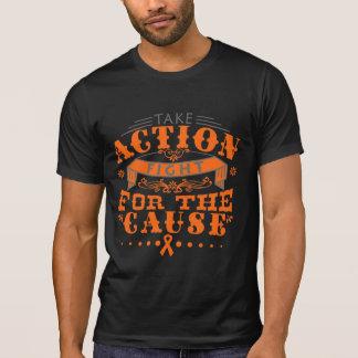 La esclerosis múltiple toma la lucha de la acción camisetas