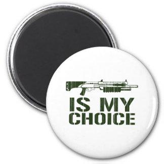La escopeta es mi opción - arma del juego del vide imán redondo 5 cm