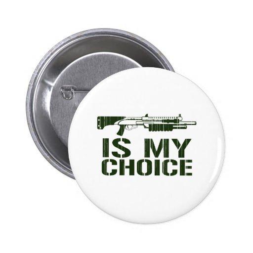 La escopeta es mi opción - arma del juego del vide pins