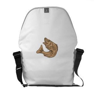 La escorpina que salta encima del dibujo bolsas de mensajería