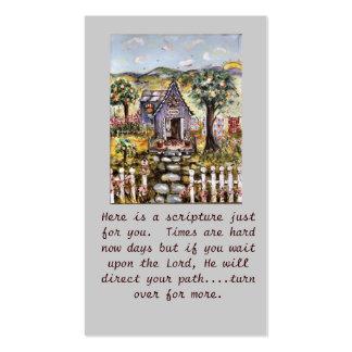 La escritura carda el folleto tarjetas de visita