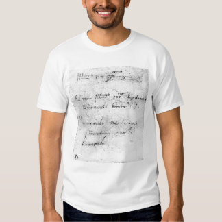 La escritura de Leonardo da Vinci Playeras