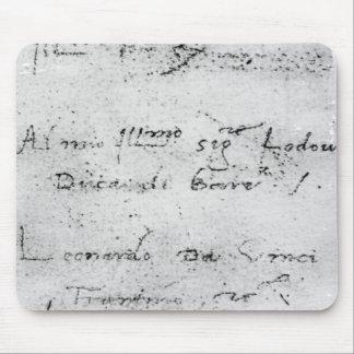 La escritura de Leonardo da Vinci Alfombrillas De Ratones