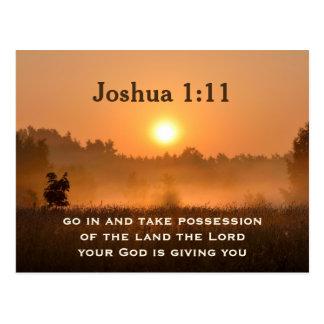 La escritura del 1:11 de Joshua toma la posesión Tarjeta Postal