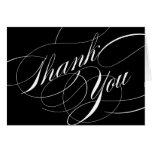 La escritura elegante le agradece observar felicitacion