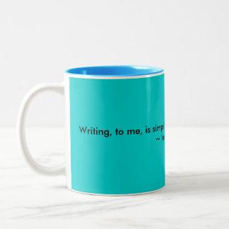 La escritura es a mí taza de café de la cita