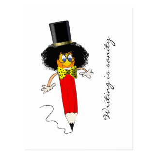 La escritura es cordura tarjetas postales