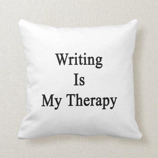 La escritura es mi terapia cojines