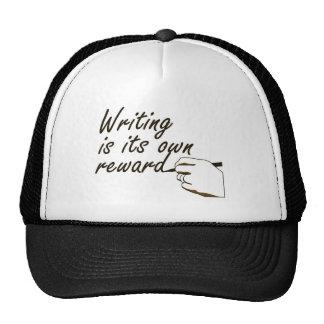 La escritura es su propia recompensa gorras de camionero