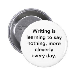 La escritura está aprendiendo no decir nada botón pin redondo de 2 pulgadas