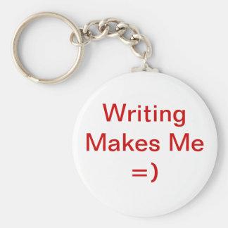 La escritura me hace =) llavero