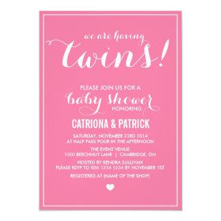 La escritura rosada del clavel hermana la invitación personalizada