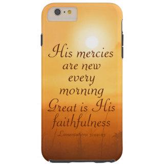 La escritura su misericordia es nueva cada mañana funda resistente iPhone 6 plus