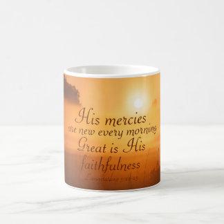 La escritura su misericordia es nueva cada mañana taza
